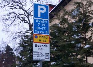 panneau de stationnement Stockholm